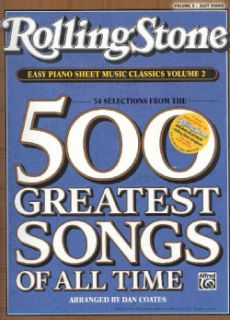 Rolling Stone Easy Piano Sheet Music Classics 34 Selections from the