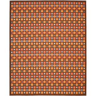 Metropolis Diamonds Brown Rug (8 x 10)