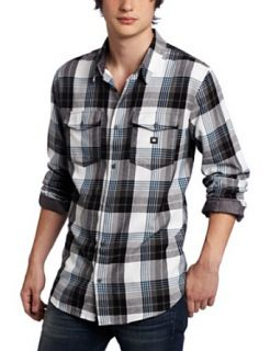 DC Mens Hackelman Long Sleeve Shirt Clothing