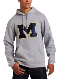 NCAA Mens Michigan Wolverines Playbook Fleece Grey Hoodie