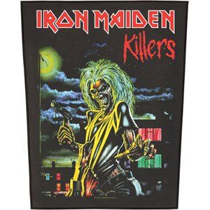 Rockabilia Iron Maiden Killers Back Patch Clothing