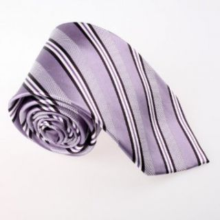 Purple Stripes Woven Silk Tie Gift Box Set medium orchid