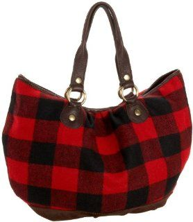 com Lucky Brand Soulful Plaid Flannel Tote,Red Plaid,one size Shoes