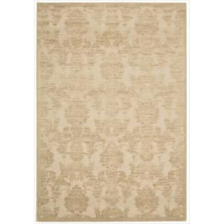 Graphic Illusions Damask Light Gold Rug (53 x 75)