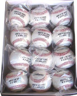 Wilson A1050B Youth Little League Baseballs, Dozen Sports