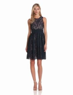 Eliza J Womens Lace Dress With Pleated Skirt Clothing
