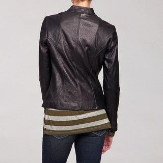 DKNY Womens Lambskin Leather Jacket