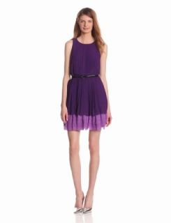 Jessica Simpson Womens Colorblock Pleated Dress Clothing