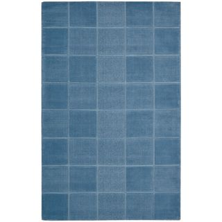 Hand tufted Westport Blue Wool Rug (5 x 8)