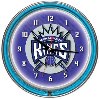 Sacramento Kings NBA Chrome Double Ring Neon Clock, 14