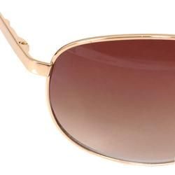 Kenneth Cole Reaction Womens Goldtone Aviator Sunglasses