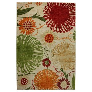 Flower Shower Multi colored Area Rug