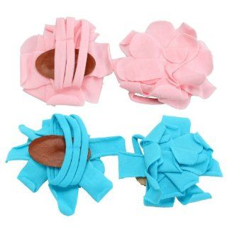 Barefoot Petals Flower Sandals Shoes Socks Feet Deco Pink&Blue Baby