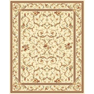 Lyndhurst Collection Traditional Ivory/ Ivory Rug (9 x 12