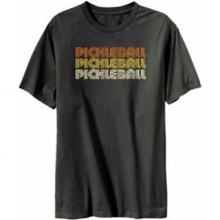 Pickleball Retro Color Mens T shirt Clothing