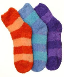 Womens (3 Pairs) Soft Anti Skid Fuzzy Winter Socks  Broad