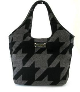 Kate Spade Large Tate Hearthstone Houndstooth (Black/Gray