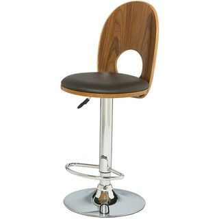 Walnut/ Espresso Mousehole Adjustable Swivel Stool (Set of 2