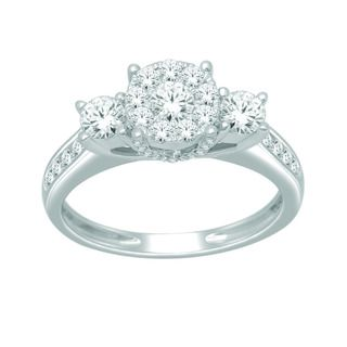 10k White Gold 1ct TDW Imperial Diamond Engagement Ring (H I, I2