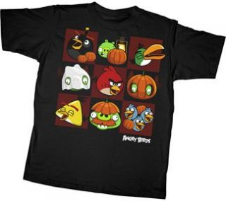 Angry Birds Halloween Squares Youth T shirt Tee Clothing