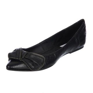 Steve Madden Womens P Sippi Black Pointed toe Bow Flats