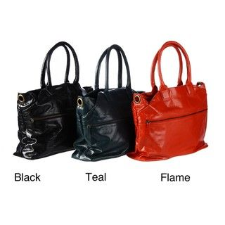 Latico Top Zip Leather Tote Bag