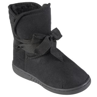 Journee Collection Kids Kuggy Faux Fur Lined Ribbon Accent Boots