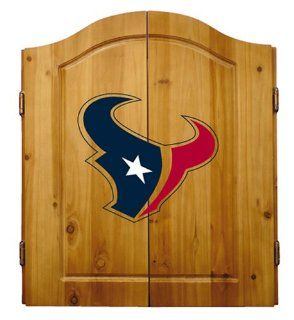 NFL Houston Texans Solid Pine Cabinet And Bristle