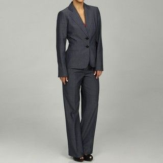 Evan Picone Womens 2 button Denim Pant Suit