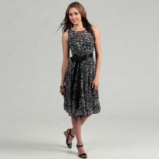 Jessica Howard Womens Black/ Ivory Dress