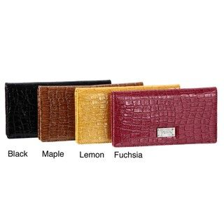 Kenneth Cole Reaction Flattered Slim Croco Clutch Wallet