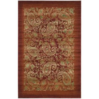 Lyndhurst Collection Paisley Red/ Multi Rug (33 x 53)