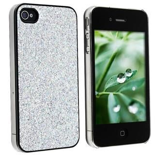 Snap on Silver Bling Case for Apple iPhone 4