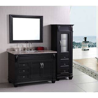 Design Element Hudson 48 inch Single Sink Bathroom Vanity Set with