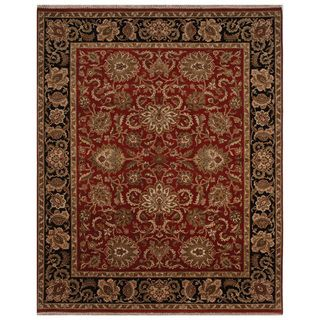 Hand knotted Oriental Red Wool Area Rug (8 x 10)