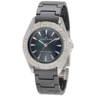 Anne Klein Womens Black Ceramic Watch