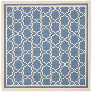 Courtyard Poolside Blue/ Beige Indoor Outdoor Rug (67 Square