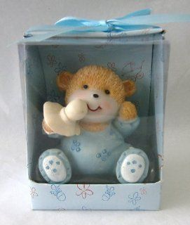 Baby Keepsake Set of 12 Baby Boy Teddy Bear Wearing