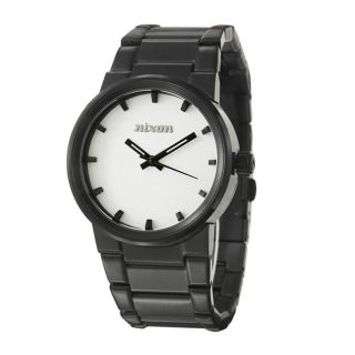 Nixon Mens The Cannon Black Stainless Steel Quartz Watch