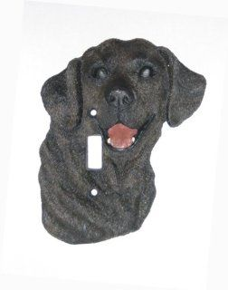 Black Labrador Retriever Dog Switch Plate Cover Home