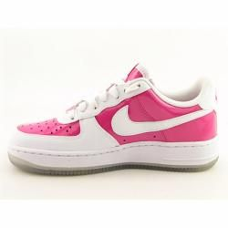 Nike Youth Girls Air Force 1 Vivid Pink/White Basketball Shoes