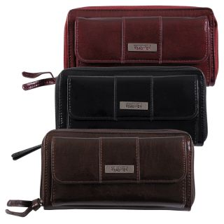 Kenneth Cole Reaction Womens Zipper Closure Clutch Wallet