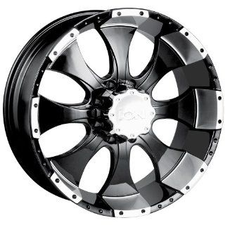 ION Alloy Style 137 (Black w/ Machined Lip) Wheels/Rims 8x170 (137