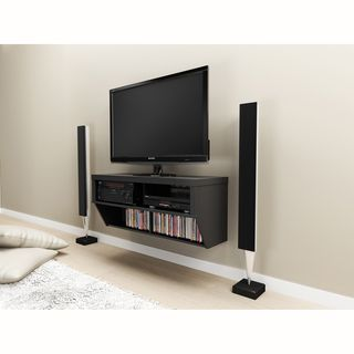 Series 9 Designer Collection Black 42 inch Wide Wall Mounted AV