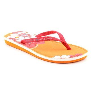 Jelena Womens SZ 5 Red New Synthetic Flip Flops Sandals Shoes Shoes