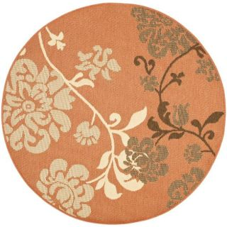 Indoor/ Outdoor Terracotta/ Brown Rug (53 Round)