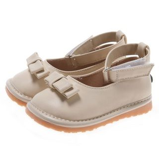 Little Blue Lamb Toddler Cream PU Leather Squeaky Shoes