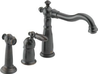 Delta 155 RB DST Victorian Single Handle Kitchen Faucet with Spray