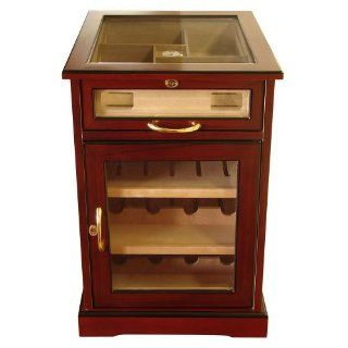 Cuban Crafters Wine Cabinet Cherry Cigar Humidor 400 Count