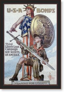 Weapons for Liberty circa 1918 Framed Canvas Art